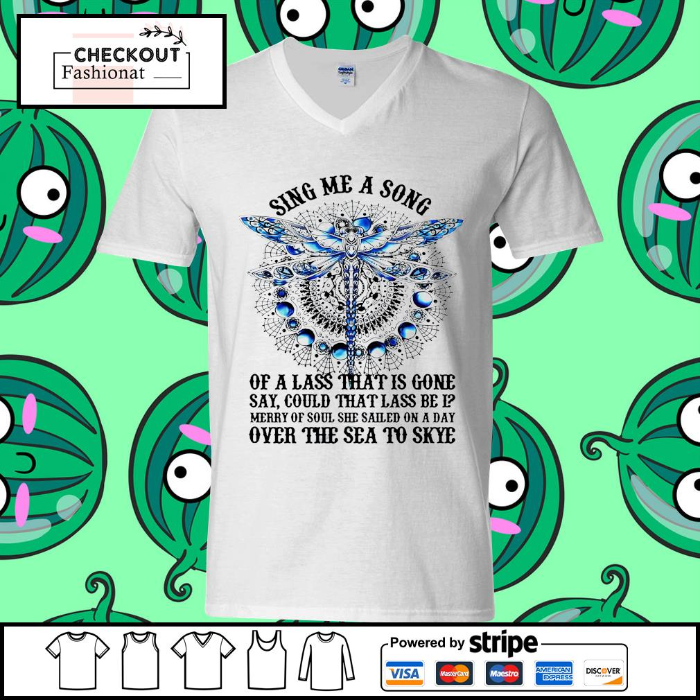 Dragonfly sing me a song of a lass that is gone guy v-neck t-shirt