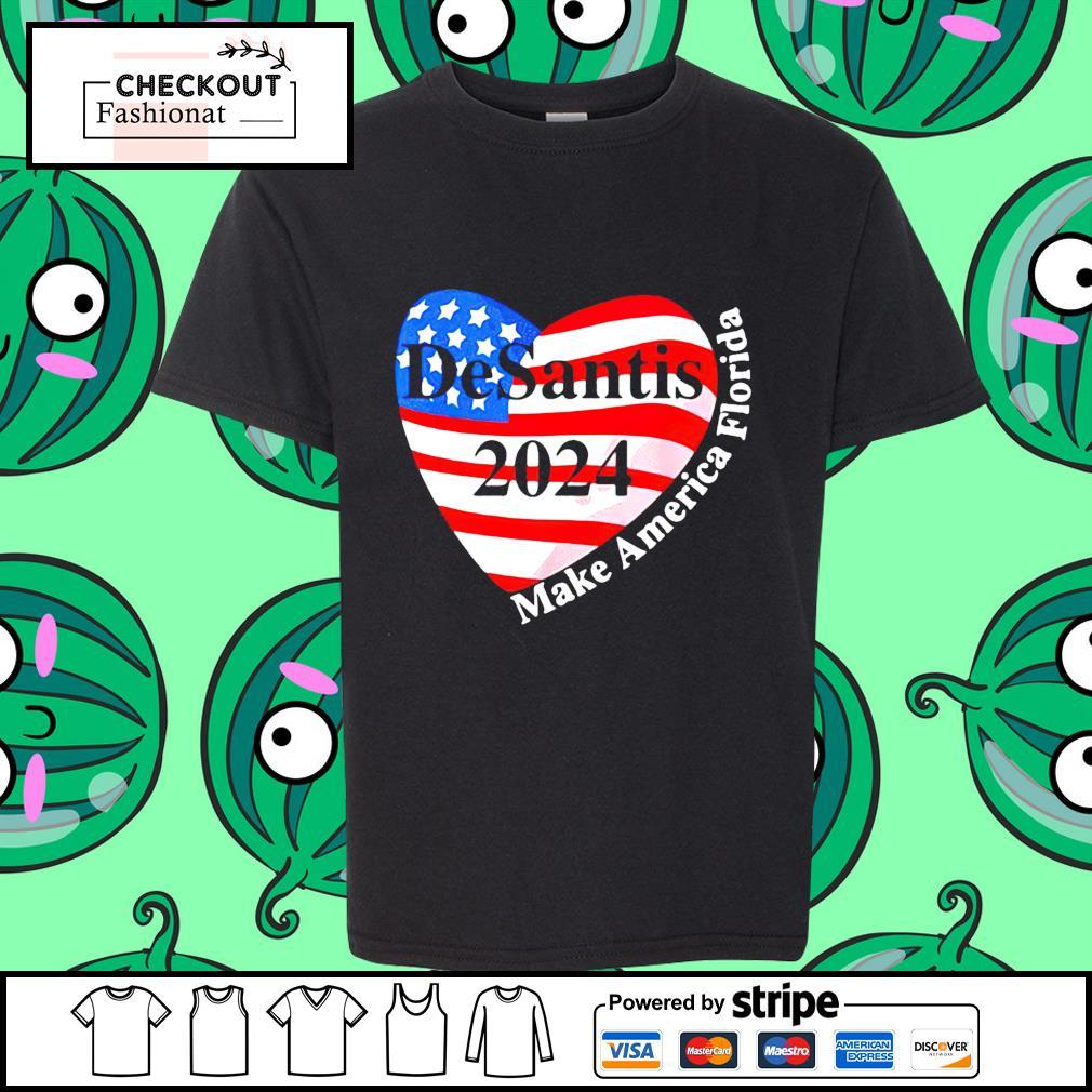 Heart desantis 2024 make America Florida shirt