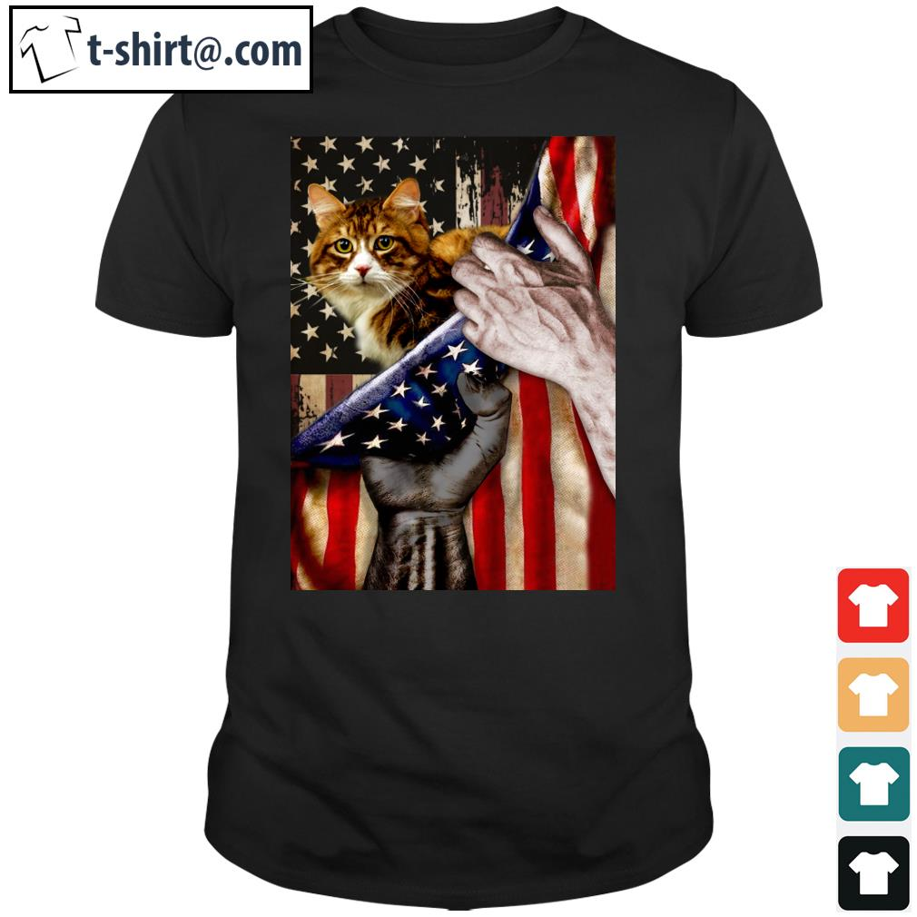 Blood Inside Me Cat Flag shirt