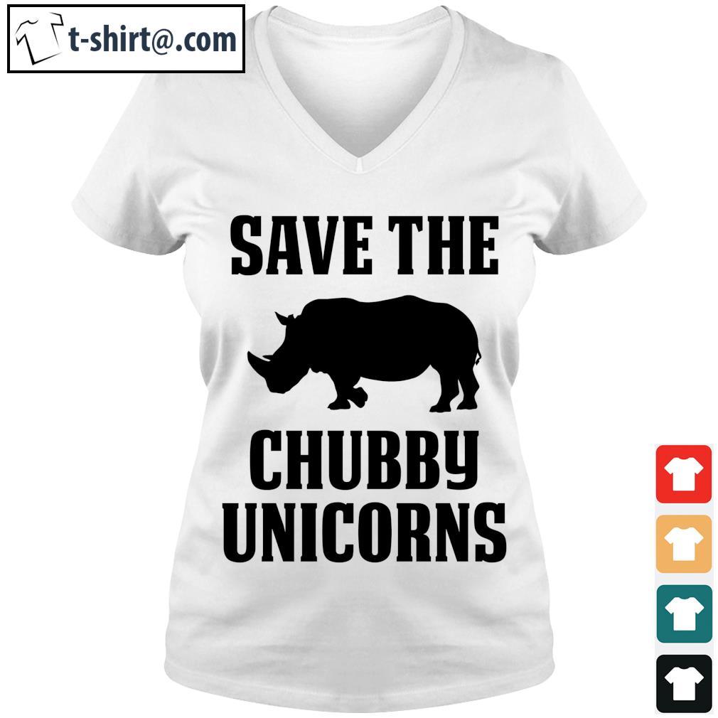Save the Chubby Unicorns s v-neck-t-shirt