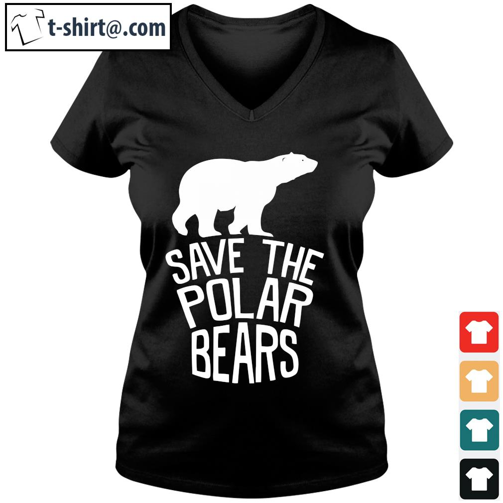Save the polar bears s v-neck-t-shirt